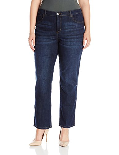 Lee Women's Plus Size Relaxed Fit All Cotton Straight Leg Jean