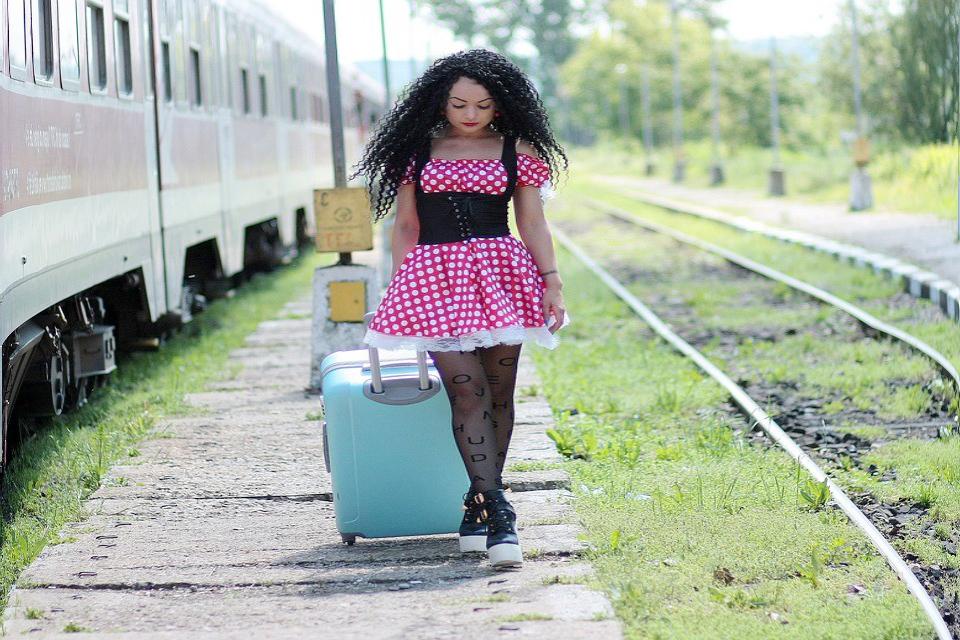 5bed1b7d14c70 plus size big polka rockabilly dress