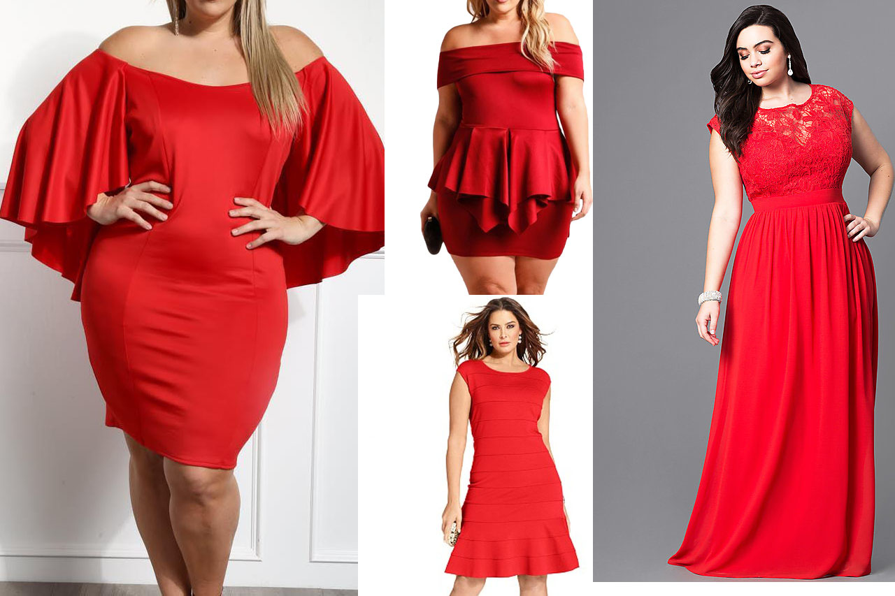 Different Plus Size Red Dresses that Flatter Your Figure